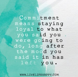 Committment quote